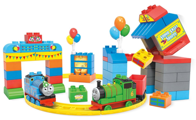 ตัวต่อรถไฟโทมัส ธีมงานวันเกิด Mega Bloks Thomas & Friends Happy Birthday Thomas! Building Set
