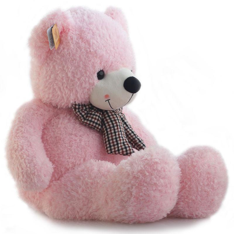 หมอนผ้าห่มแยกชิ้น ตุ๊กตาหมี สีชมพู