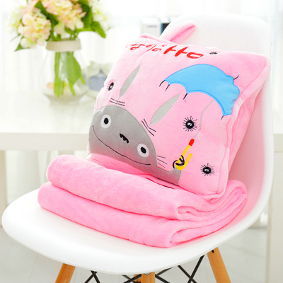 หมอนผ้าห่ม ลายโทโทโร่ สีชมพู