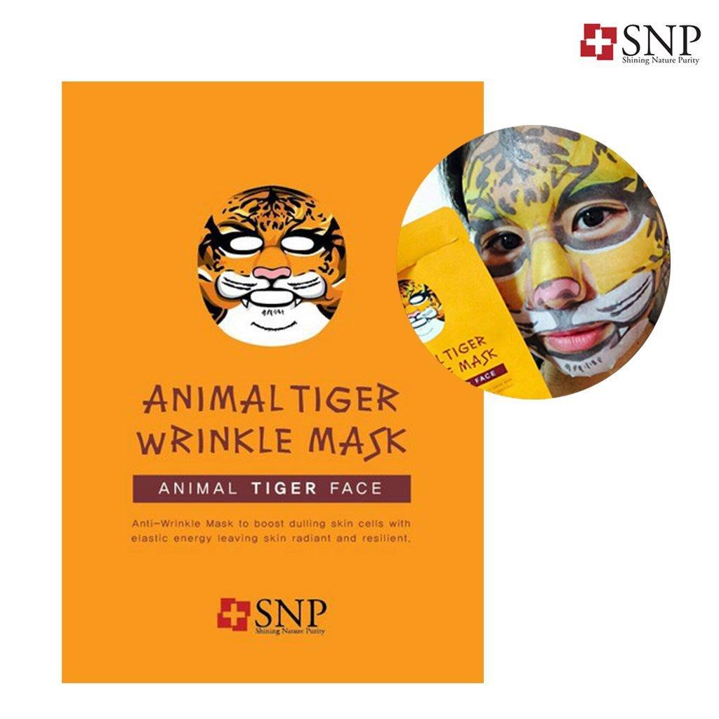SNP ANIMAL tiger wrinkle mask