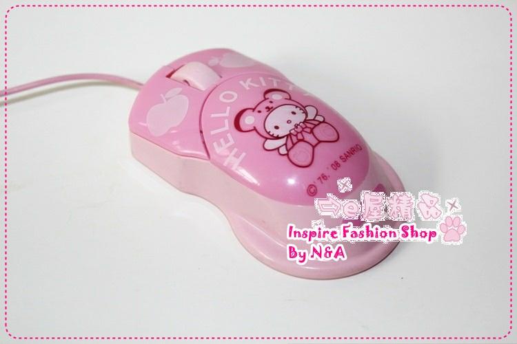 เมาส์ Hello Kitty สีชมพู Genuine hello kitty mouse USB mouse / optical mouse / cartoon mouse