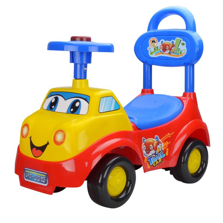 รถขาไถผลักเดิน หน้ารถบรรทุก สีแดงน้ำเงิน
