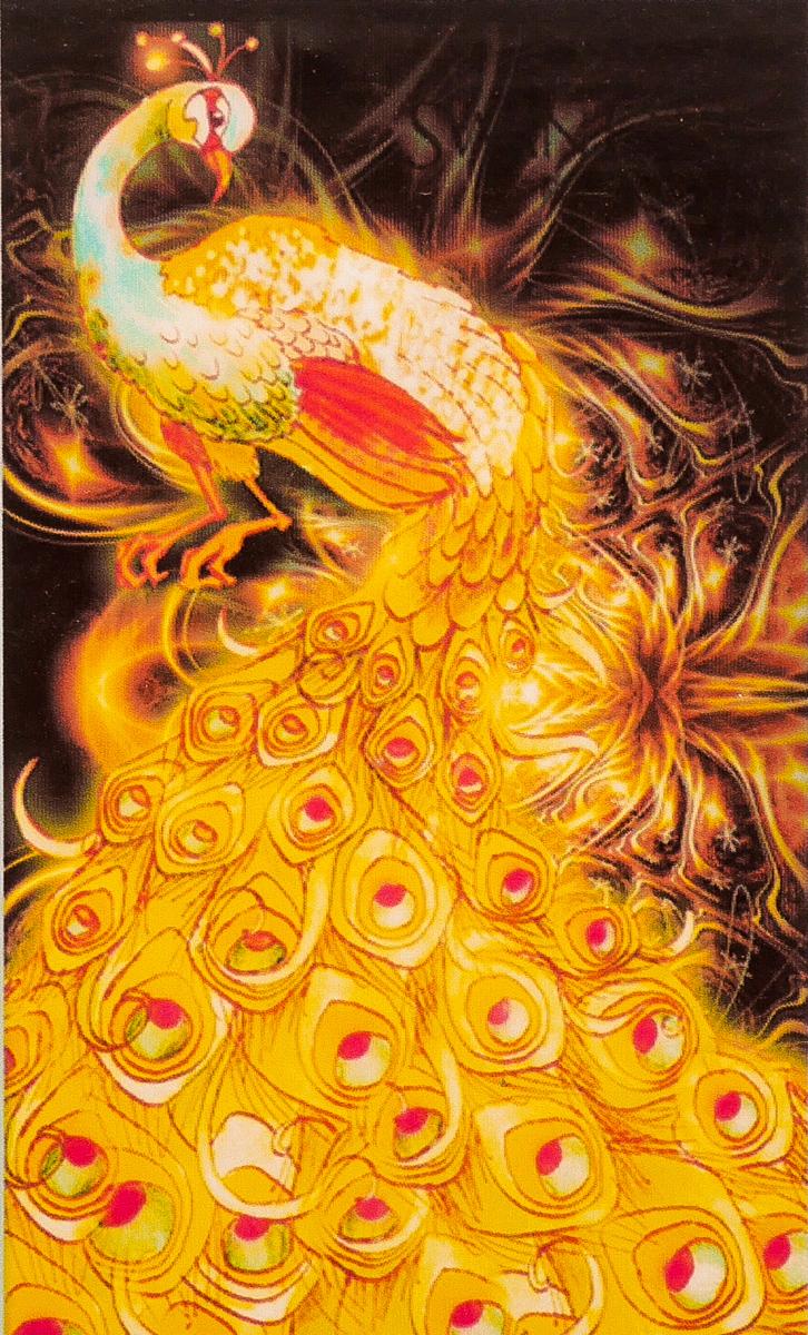 """CY006 ภาพ diamond ครอสติสคริสตัล """"นกยูงทองคำ"""""""