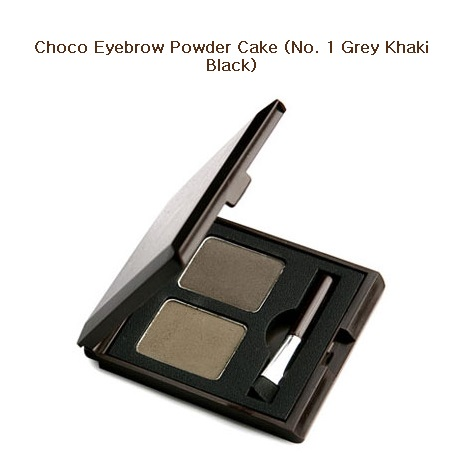 Skinfood Choco Eyebrow Powder Cake #1 Gray Khaki Black