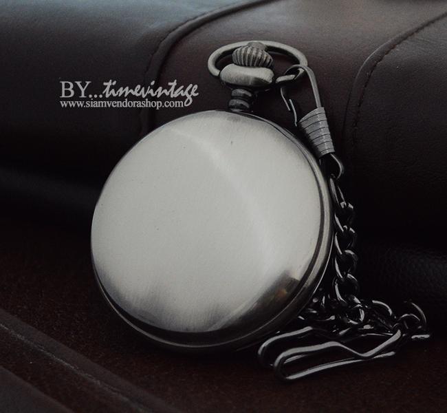 นาฬิกาพกไขลานสีดำขัด