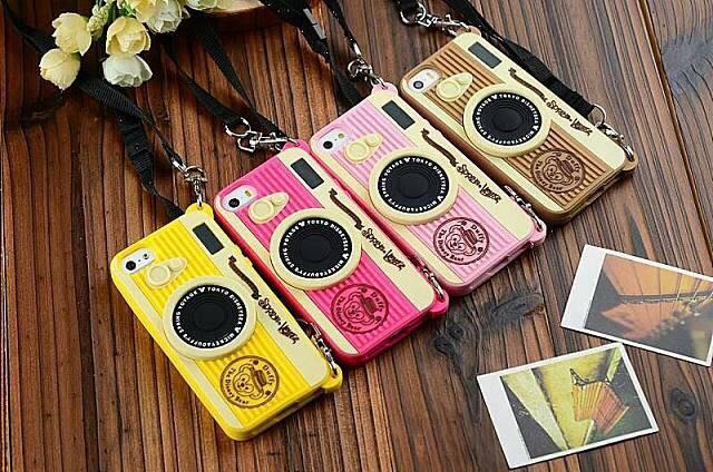 เคส iPhone5/5s - Camera ซิลิโคน