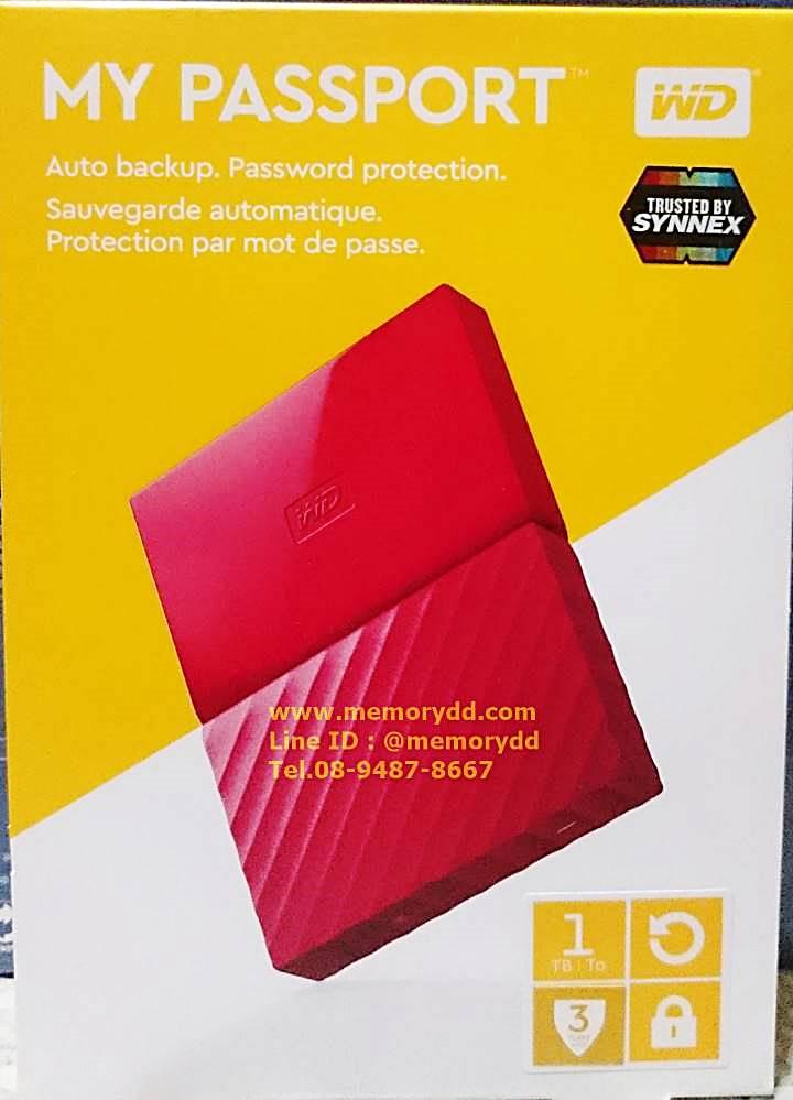 "WD My Passport Ultra 2017 1TB 2.5"" (Red) USB3.0 (WDBYNN0010BRD-WESN)"