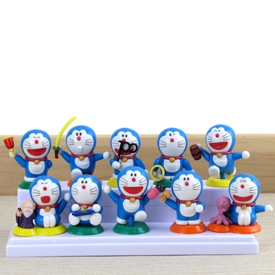 [Preorder] โมเดลโดเรมอน 10 แบบน่ารัก (ไม่มีฐาน) models duo a dream doll ornaments hand to do the 35th anniversary of the seal of the scene Doraemon Doraemon Toys and Gifts