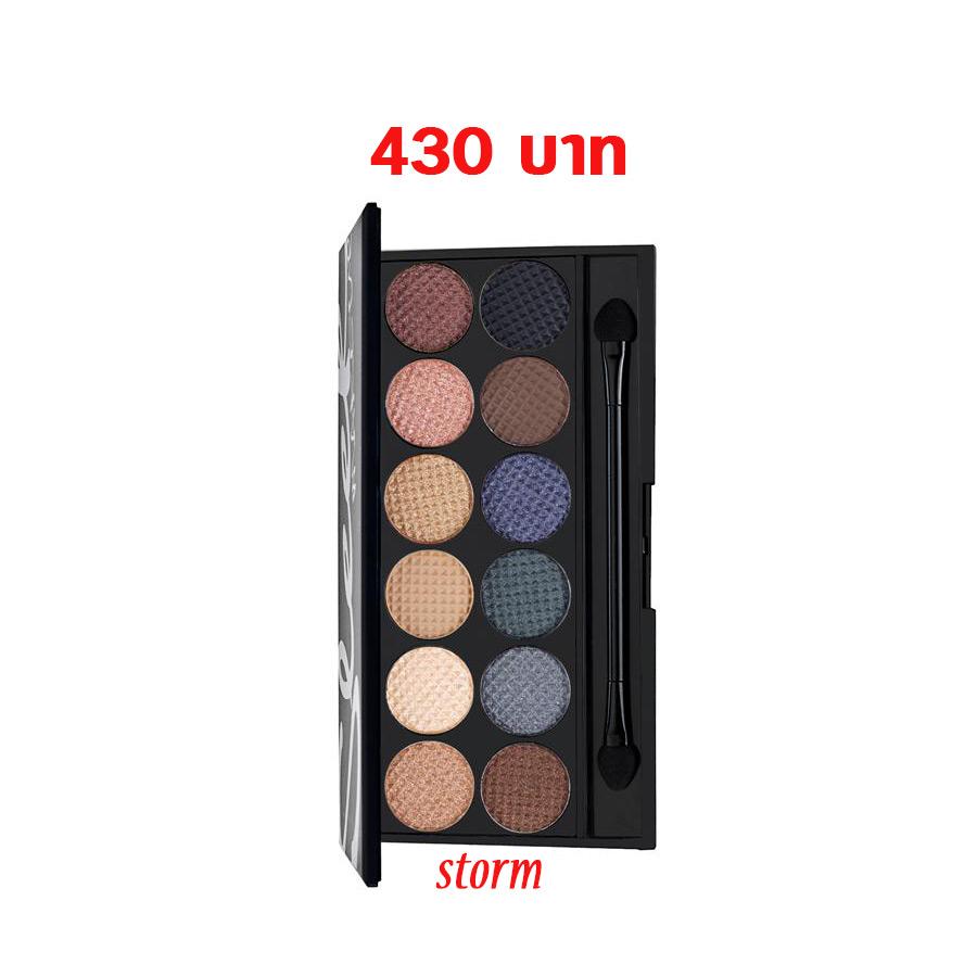 Sleek Makeup I-Divine Eyeshadow Palettes #STORM พาเลทสีคล้าย Naked ม๊ากๆจ้า มีตั้งแต่สีโทนอ่อนๆธรรมชาติ สุภาพ ไปถึงโทนเข้ม สำหรับสโม้คกี้อาย