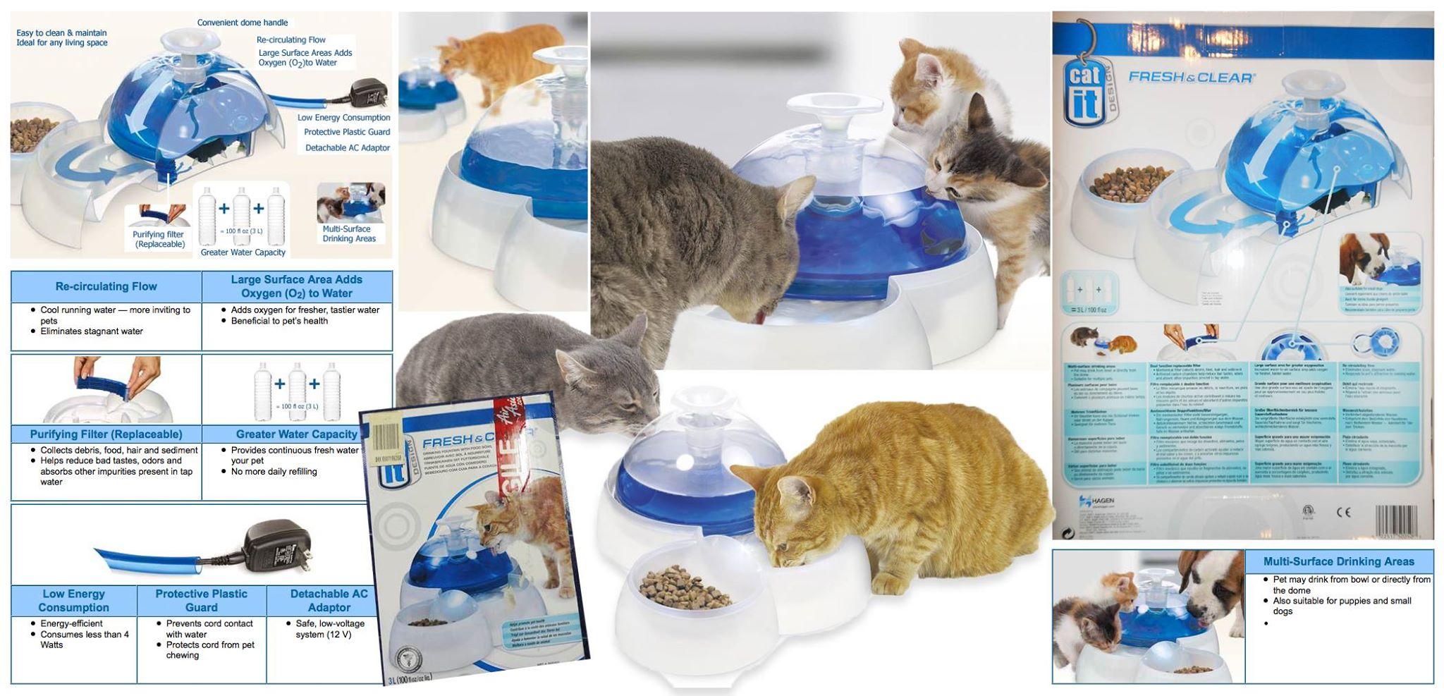 cat it - Fresh & Clear น้ำพุและชามอาหารในหนึ่งเดียว