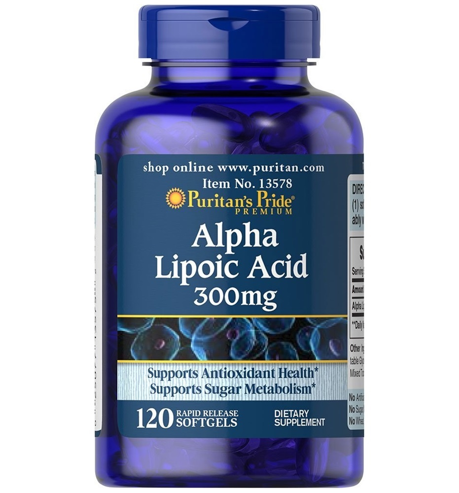Puritan's Pride Alpha Lipoic Acid 300 mg / 120 Softgels