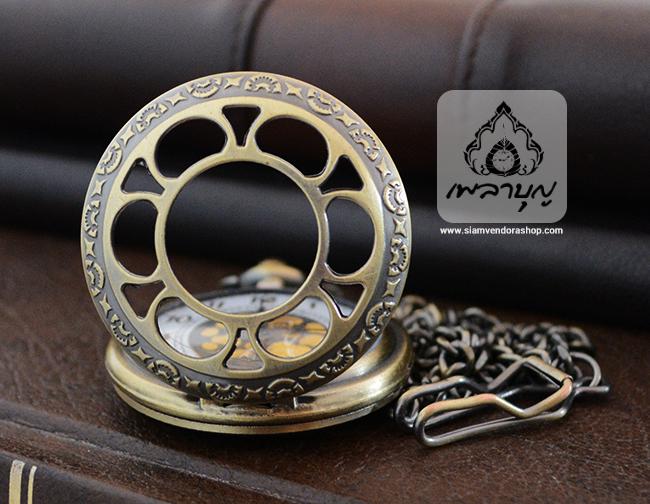 นาฬิกาสำหรับพระสงฆ์ลายดอกบัวสีทองเหลือง