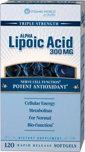 Vitamin World - Alpha Lipoic Acid 300 mg 120 Softgels