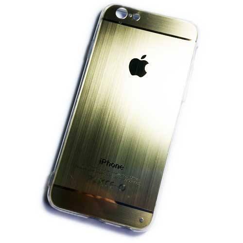 เคสไอโฟน 6/6S ขอบยาง หลัง Apple (สีทอง)