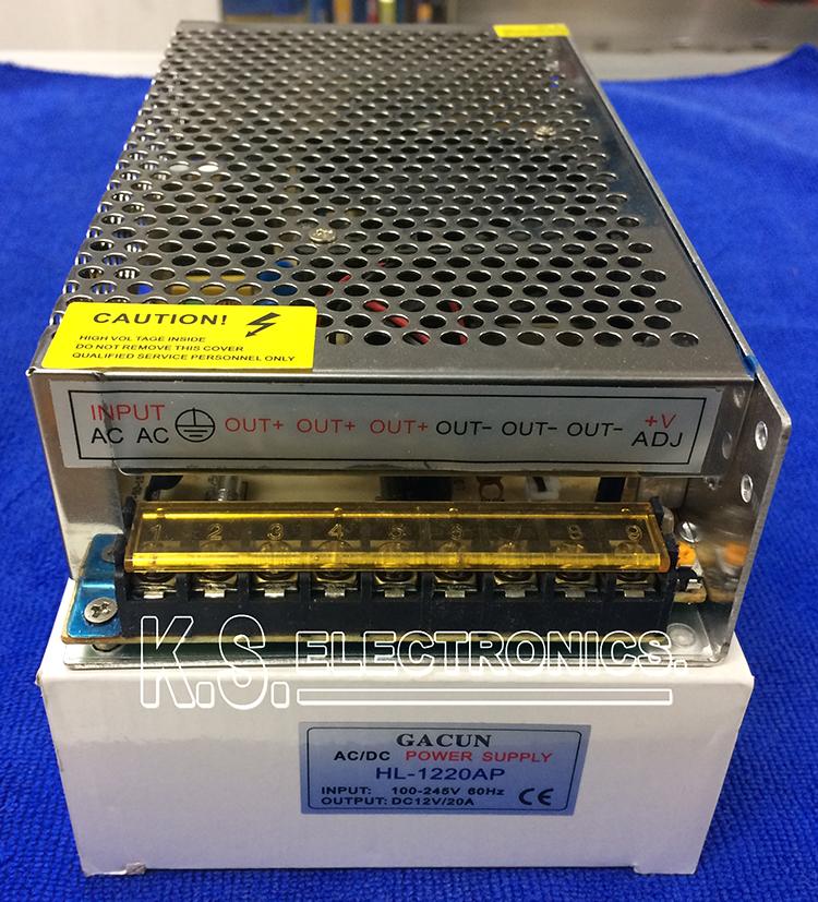 แหล่งจ่ายไฟสวิตชิ่ง Output 12V 20A