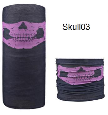ผ้าบัฟกะโหลก Skull03