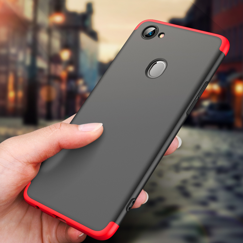 (025-1181)เคสโทรศัพท์มือถือ Case OPPO F7 เคสพลาสติกคลุมเครื่อง 360 องศา