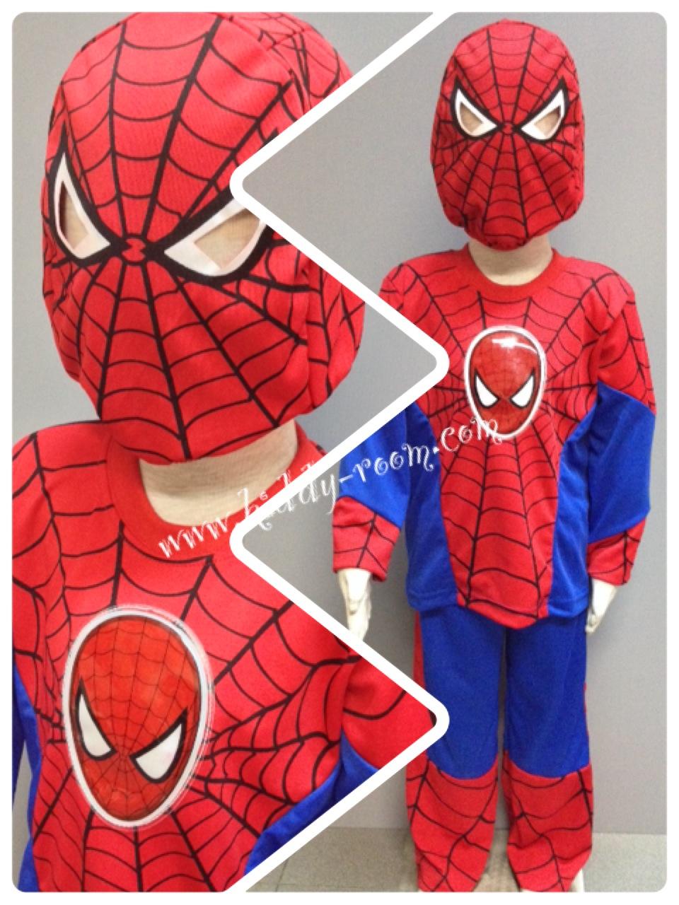 Spiderman (งานลิขสิทธิ์) ชุดแฟนซีเด็กสไปเดอร์แมน มีไฟ 3 ชิ้น เสื้อ กางเกง & หน้ากาก ให้คุณหนูๆ ได้ใส่ตามจิตนาการ ผ้ามัน Polyester ใส่สบายค่ะ หรือจะใส่เป็นชุดนอนก็ได้ค่ะ size S, M, L, XL