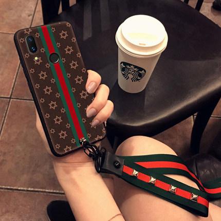 (730-002)เคสโทรศัพท์มือถือหัวเว่ย Case Huawei P20 Pro เคสนิ่มลายแฟชั่นไฮโซสายคล้องสวยๆ