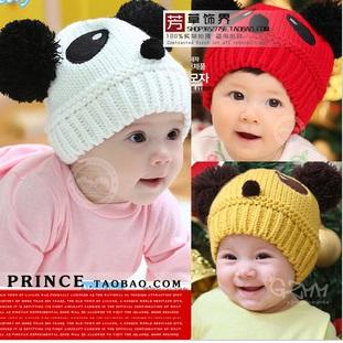 หมวกไหมพรมหมีแพนด้า