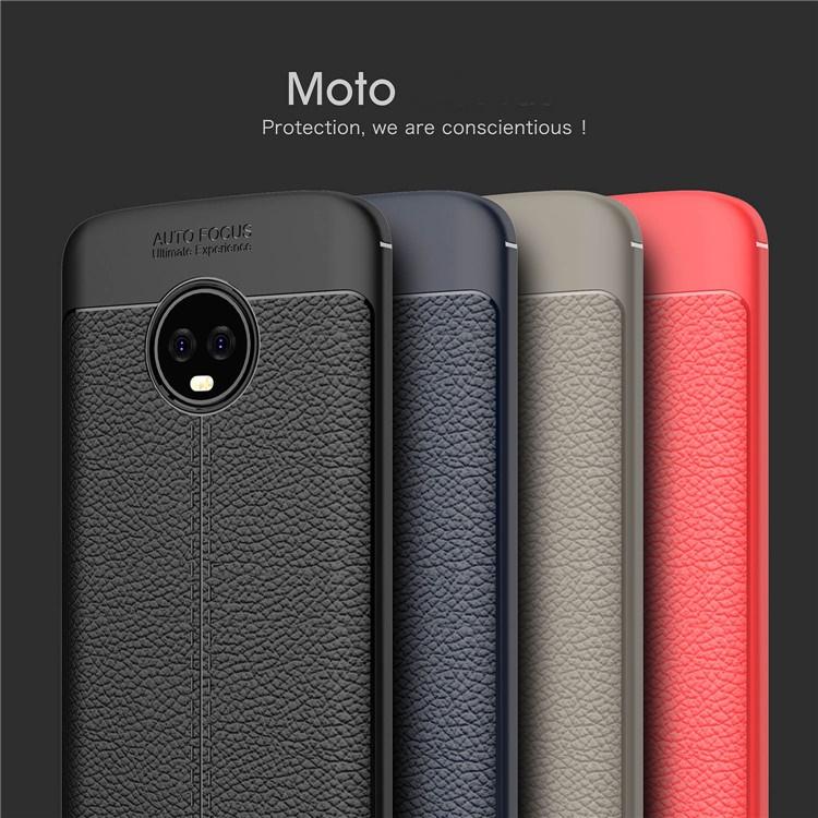 (436-392)เคสมือถือ Motorola G6Plus เคสกันกระแทกแฟชั่นพื้นผิวลายหนัง