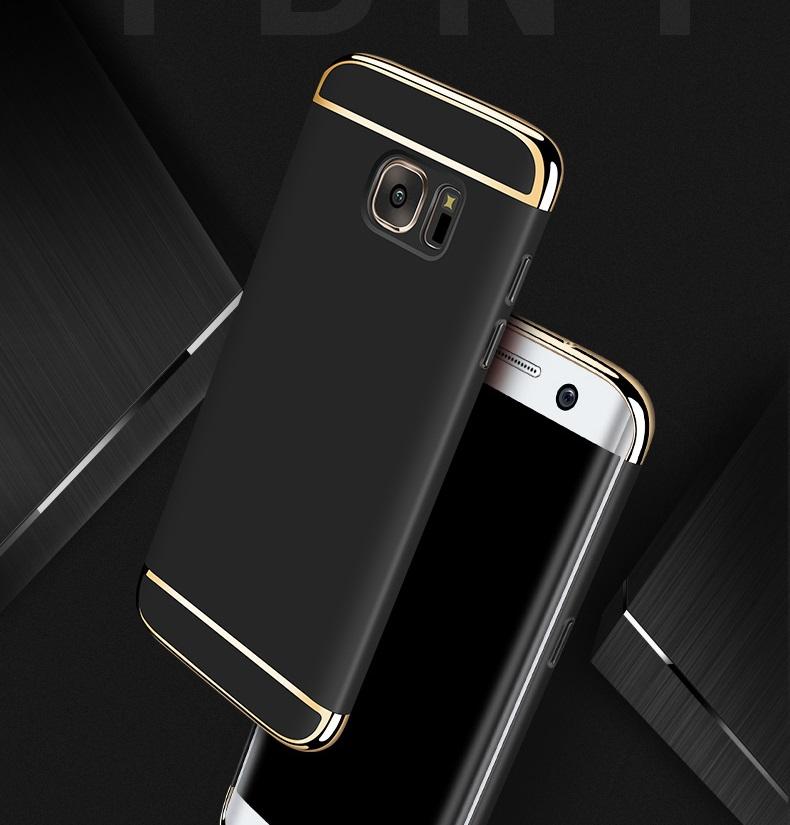 (025-556)เคสมือถือซัมซุง Case Samsung A7 2017 เคสพลาสติกสีสดใสขอบแววสไตล์แฟชั่น
