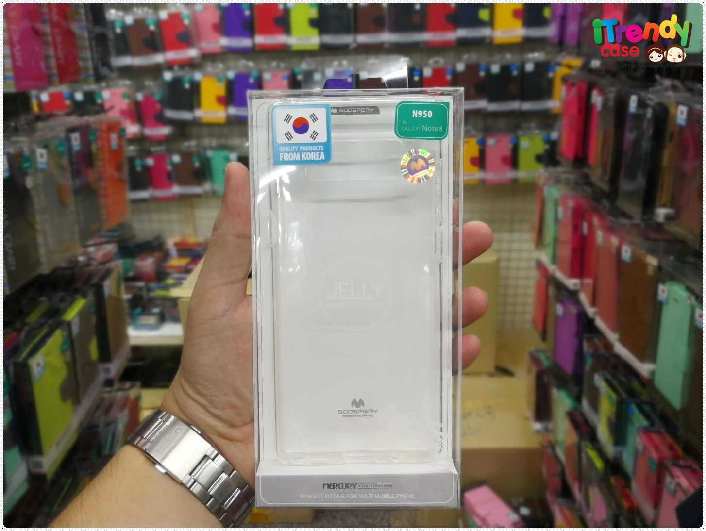Samsung Note8 - เคสใส TPU Mercury Jelly Case แท้