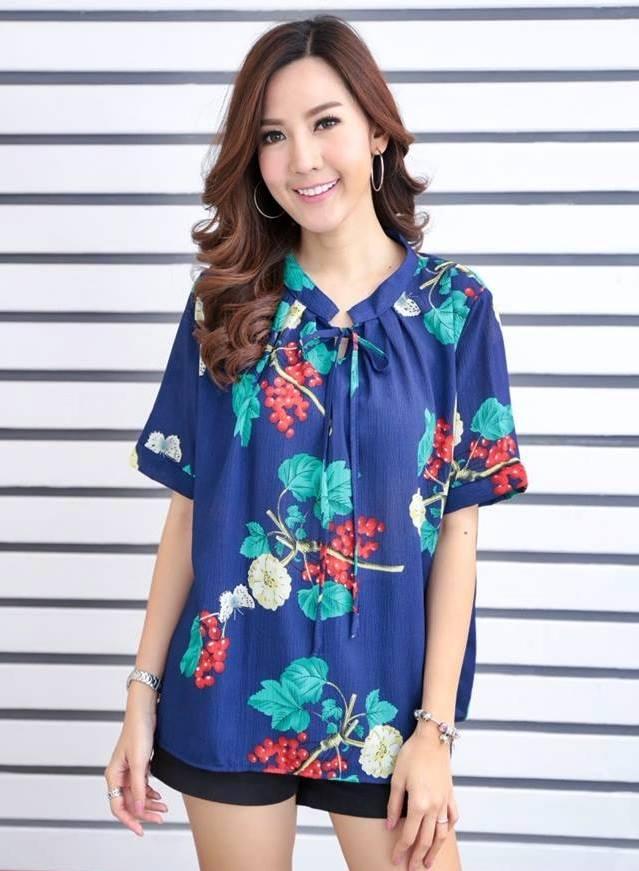เสื้อผ้าชีฟองเนื้อดี ลายดอกไม้ สายใสสไตล์เกาหลี น่ารักมาก