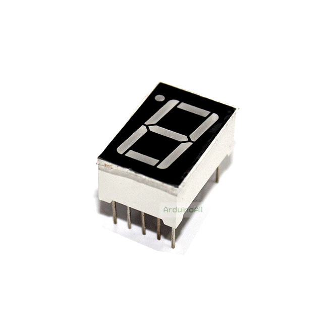 "7 Segment 0.56"" Common Cathode แบบลบร่วม 1digit Red ไฟ 7 segment 0.56"" 1 หลัก สีแดง"