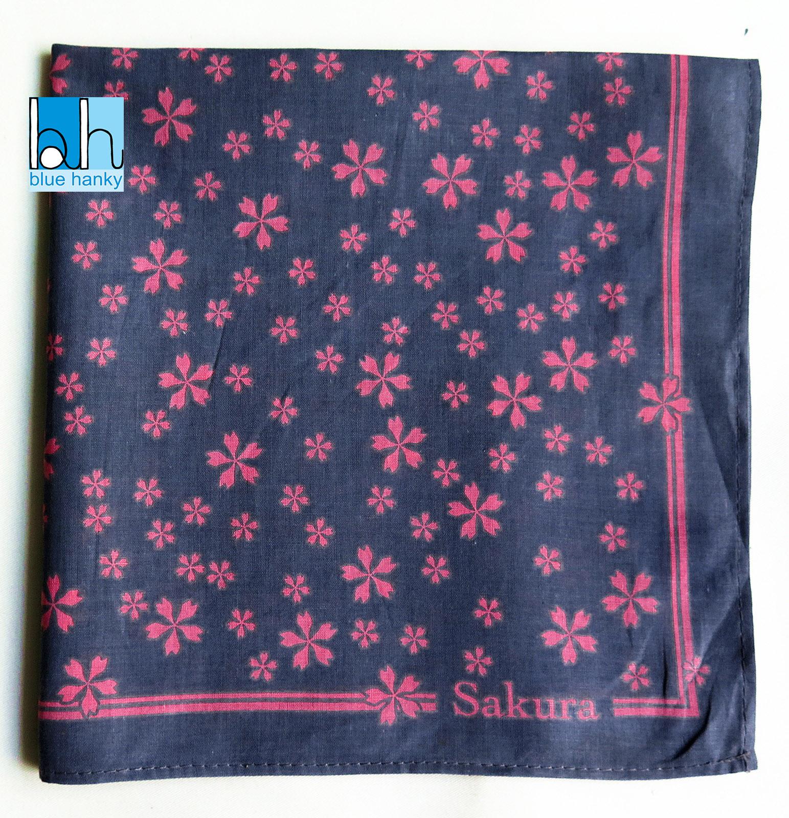 """#280 21"""" Sakura ผ้าเช็ดหน้ามือ2 สภาพดี ผ้าเช็ดหน้าผืนใหญ่"""