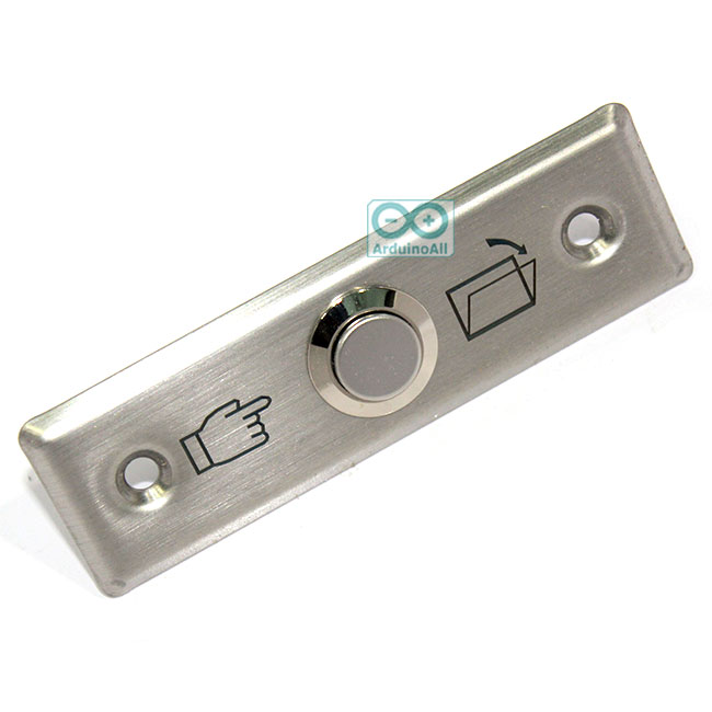 Exit Switch ปุ่มกดออกประตูคีย์การ์ด สแตนเลส ขนาด 90mm*27mm
