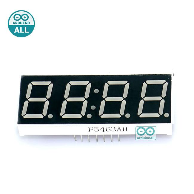 "7 Segment 0.56"" 4 digit clock Red ไฟ 7 segment 0.56"" 4 หลัก สีแดงพร้อมจุดนาฬิกา แบบไฟลบร่วม 5463AH"