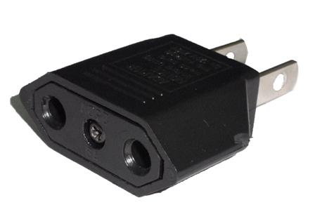 Plug Adapter two flat head หัวแปลงขากลมเป็นขาแบน