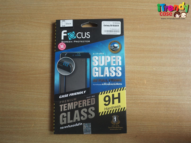 Samsung S8 (เต็มจอ) - 3D Case Friendly กระจกนิรภัย Super Glass Full Frame FOCUS แท้