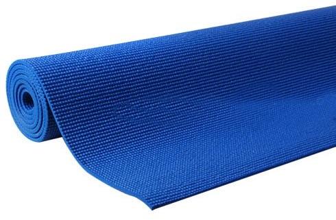 เสื่อโยคะ ขนาด 6 มิลลิเมตร สีน้ำเงิน แถม สายรัด และ กระเป๋า