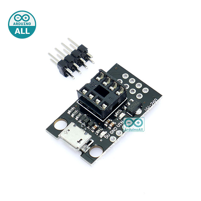 Digispark Attiny85 Programmer Socket Adapter