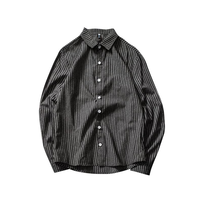 *Pre Order*เสื้อเชิ้ตแขนยาวผ้าฝ้าย90% /เกาหลี size M-5XL