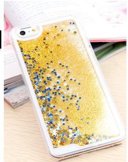 Case iphone 6 Plus / 6s Plus (Hard Case) นาฬิกาทรายกากเพชรสีทอง