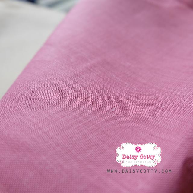ผ้าลินิน สีชมพู ขนาด 1/4 ม.(50x55ซม.)