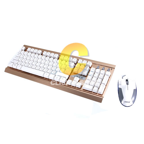 Keyboard+Mouse USB OKER (KM-923) White