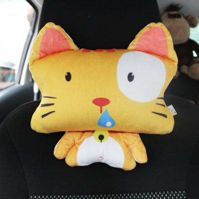 หมอนรองคอในรถบุใยสังเคราะลายตุ๊กตา