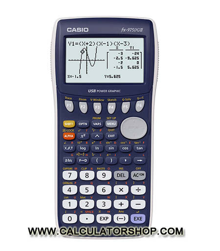 เครื่องคิดเลข คาสิโอ casio รุ่น FX-9750G II