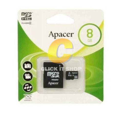 Micro SD 8GB Apacer (SDC4, Class 4)