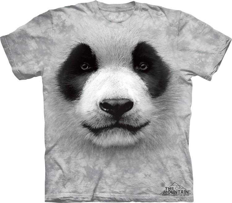 Pre.เสื้อยืดพิมพ์ลาย3D The Mountain T-shirt : Big Face Panda