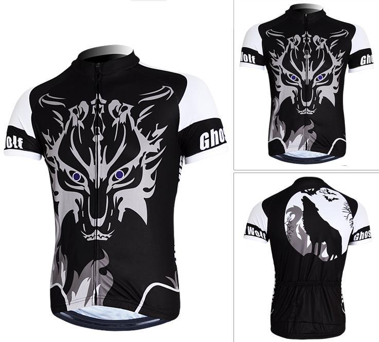 เสื้อปั่นจักรยานลายหมาป่า (แขนสั่น)