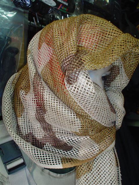 ผ้าพันคอสี่เหลี่ยมตาข่าย ไทย