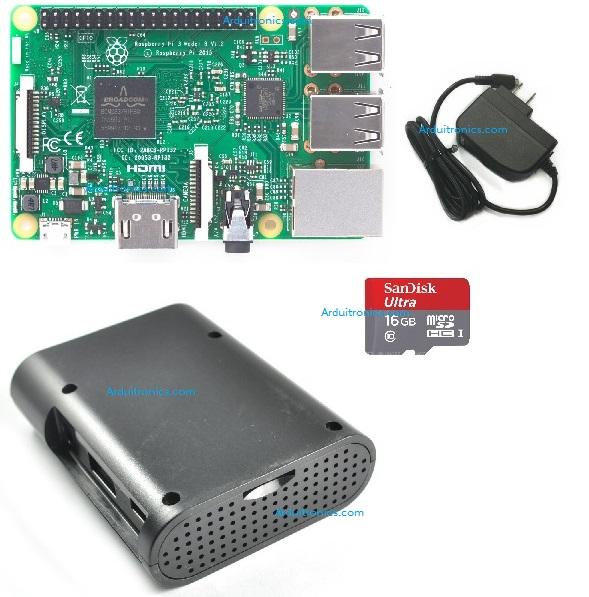 Raspberry Pi 3 Model B (Rpi Kit 4) แท้จาก UK (New Model 2016)