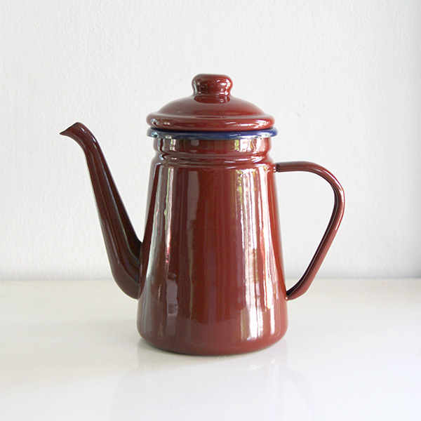 Vintage Enamel Kettle 1L