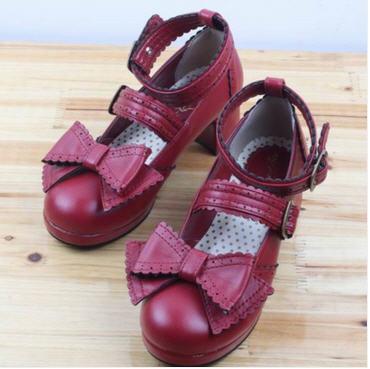 [พรีออเดอร์] รองเท้าโลลิต้า (โทนสีเดียว) น่ารักๆ สำหรับสาวๆที่ชื่นชอบสไตล์โลลิต้าสุดชิค