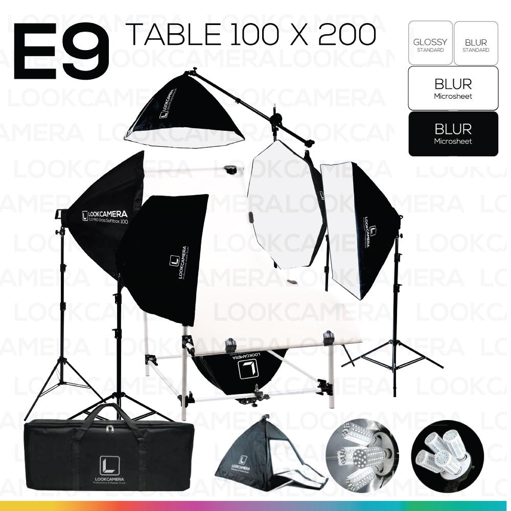 E9 STUDIO TABLE PACKSHOT โต๊ะถ่ายภาพสินค้าปรับองศา 100x200 ซม.